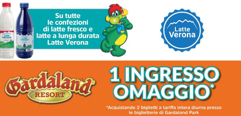 Vinci Gardaland con Latte Verona 2020